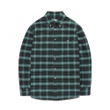 OMBRE CHECK SHIRTS GS [GREEN]
