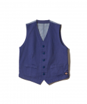 THE STLIST JAPAN x DICKIES / VEST / BLUE