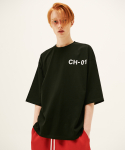 CH01 OVER HALF T SHIRT-BLACK(7부)