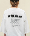 CH01 OVER HALF T SHIRT-WHITE(7부)