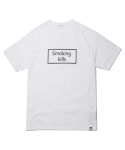 헤비스모커(HEAVYSMOKER) Smoking Square T-shirt (White)