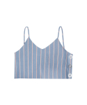 매치글로브(MATCHGLOBE) MG7S DENIM STRIPE BUSTIER (LIGHT BLUE)