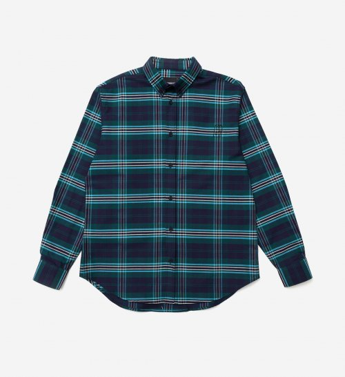 브라운브레스(BROWNBREATH) B MOVE CHECK SHIRT - GREEN
