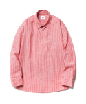 파르티멘토() Ticking Stripe Shirts Pink