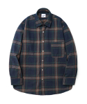 Plaid Check Shirts Navy