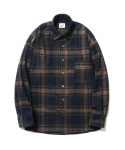 파르티멘토() Plaid Check Shirts Navy