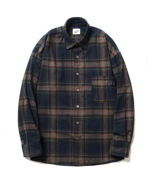파르티멘토(PARTIMENTO) Plaid Check Shirts Navy