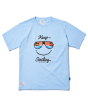 파라다이스 비치(PARADISE BEACH) 2017 KEEP SMILE T-SHIRT (SKY BLUE) [PT021F23SB]