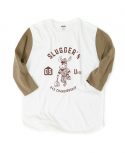 아웃스탠딩(OUTSTANDING) SLUGGERs THREE-QUARTER TEE[BEIGE]