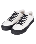 마이애미 스탠스(M.I.A STANCE) CANVAS LOW - BKWHT
