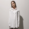 일일오구스튜디오(1159STUDIO) MH1 RUFFLE CHIFFON LONG SHIRT_WHITE