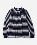 커버낫(COVERNAT) L/S NARROW STRIPE T-SHIRTS NAVY