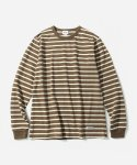커버낫(COVERNAT) L/S NARROW STRIPE T-SHIRTS BEIGE