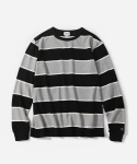 커버낫(COVERNAT) L/S WIDE STRIPE T-SHIRTS BLACK