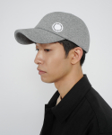 로우 투 로우(RAW TO RAW) bonded jersey side wapen ball cap(light melange grey)