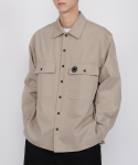 로우 투 로우(RAW TO RAW) cotton monk shirts jacket(warm grey)
