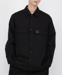 cotton monk shirts jacket(black)