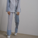 C_L_O 17ss Unbalanced  stripe pants C2SP03_BL