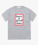 해브 어 굿 타임(HAVE A GOOD TIME) Frame Logo S/S Tee - Grey