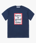 해브 어 굿 타임(HAVE A GOOD TIME) Frame Logo S/S Tee - Navy