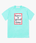 해브 어 굿 타임(HAVE A GOOD TIME) Frame Logo S/S Tee - Aqua