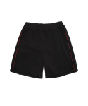 TRACK SHORT PANTS (BLACK/RED)