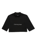 피피피(P.P.P) CHARMING SWEAT CROP TEE (BLACK)