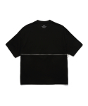 피피피(P.P.P) LAYER BACKMESH TEE (BLACK)