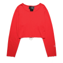 피피피(P.P.P) BACK ZIP LAYERED CROP SLEEVE (RED)