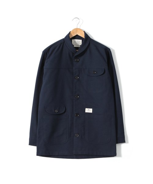 헨더(HANDER) SHAWL COVERALL JACKET [NAVY]