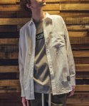 필루미네이트(FILLUMINATE) UNISEX Classic Linen Shirt-WHITE
