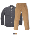러기드하우스(RUGGED HOUSE) [세트상품] STRIPE SHIRTS CHINO PANTS