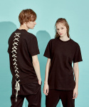 디바이디그낙(DBYDGNAK) Back Lace-Up T-Shirts (BK)
