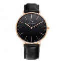 다니엘 웰링턴(DANIEL WELLINGTON) DW00100129 Classic Black Reading 로즈골드 40mm