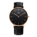 다니엘 웰링턴(DANIEL WELLINGTON) DW00100139 Classic Black Sheffield 로즈골드 36mm