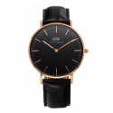 다니엘 웰링턴(DANIEL WELLINGTON) DW00100141 Classic Black Reading 로즈골드 36mm