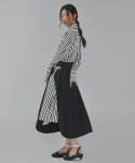WOMAN RUFFLE SKIRT (BLACK)