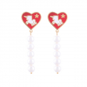 누누핑거스(NOONOO FINGERS) Red Noonicorn 5 Pearl Drop Earring