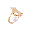 누누핑거스(NOONOO FINGERS) Frillfinger Pearl Catch Ring