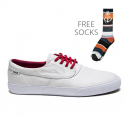 라카이(LAKAI) Camby Anchor - White/White Pu Coated Canvas