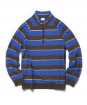 디스이즈네버댓(THISISNEVERTHAT) Multi Striped Half Zip Blue/Yellow