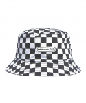 디스이즈네버댓() Checkerboard Bucket hat White/Black