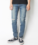 크래프티드(KRAFTED) GREENISH KNIFE CUT JEANS