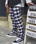 시그니처(SIGNATURE) UNISEX CHECK PANTS[BLUE]