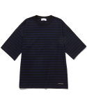 라이풀() MID NECK STRIPE OVER TEE black