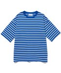 라이풀() MID NECK STRIPE OVER TEE blue