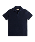 매료(MAERYO) TERRY COTTON OPEN COLLAR POLO SHIRTS
