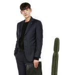 MODERN ARON : Gentlemanly Single Suit Blazer Navy