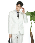 MODERN ARON : MAR Cotton Suit Blazer White