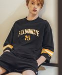 필루미네이트(FILLUMINATE) UNISEX Quarter Printing Tee-Black